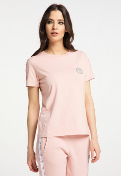 Damen Basic T-Shirt Rosa | XS/34