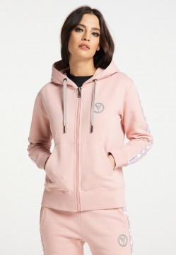 Damen Basic Sweatjacke Rosa | XS/34