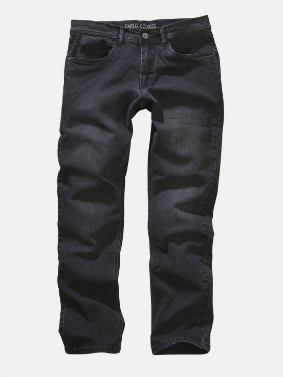 5-Pocket Jeans Enrico in Darkgrey Denim mit Stretch  33W30L