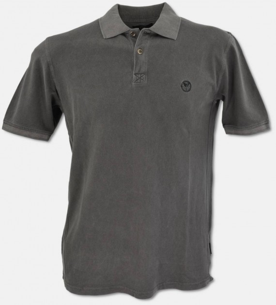 Legeres Polo-Shirt aus gekämmter Baumwolle mit Washed-out-Optik  S