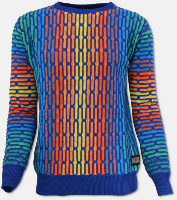All-Over Jacquard Pullover, Bunt M