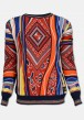 Pullover mit All-Over Jacquard-Muster, Bunt gemustert