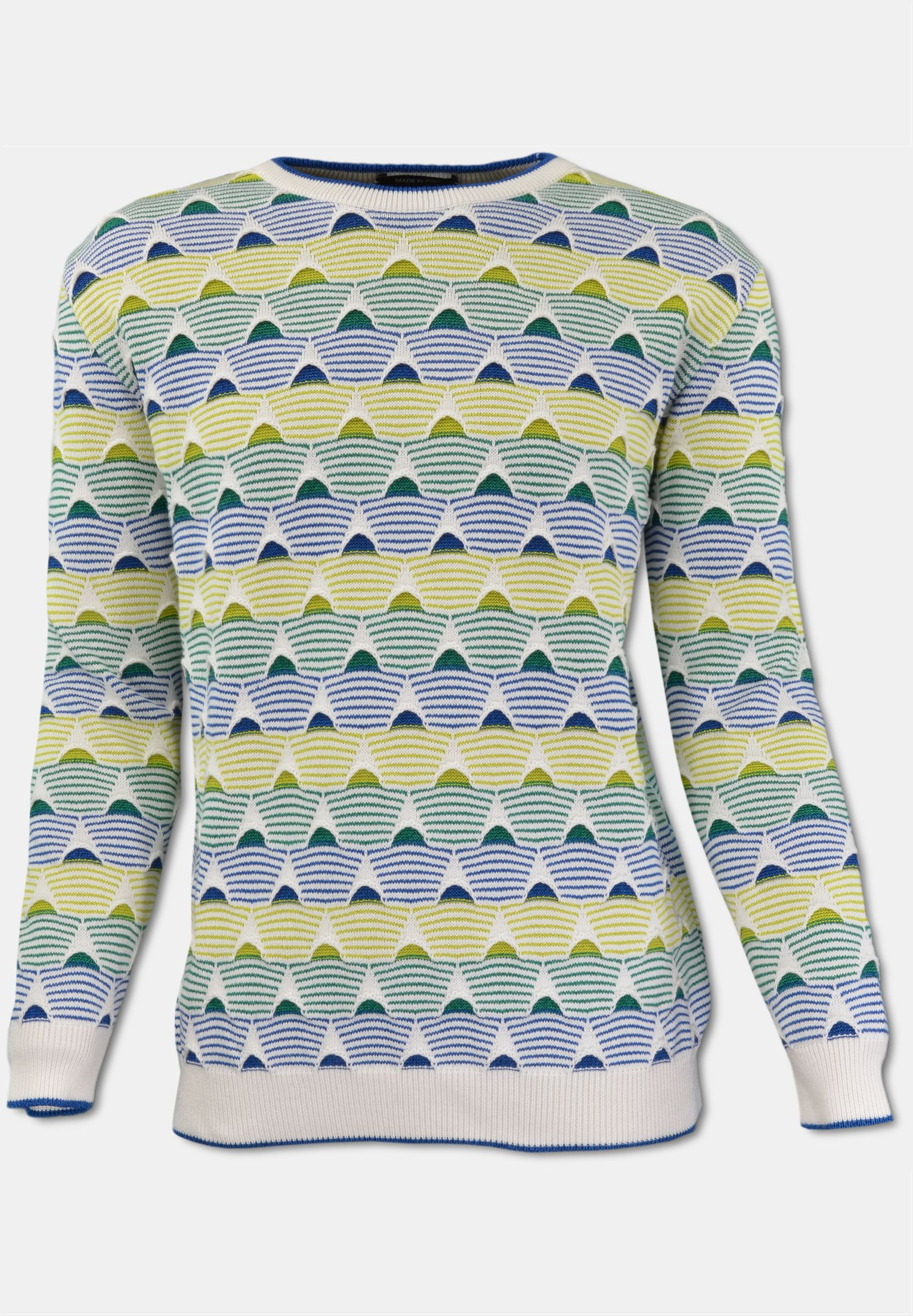 CARLO COLUCCI Online Shop | Sweater with filigree pattern, white royal L | purchase online
