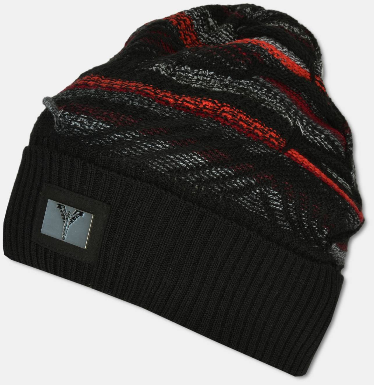 545bcf2f8 CARLO COLUCCI Online-Shop | Knit beanie, black-red OS | purchase online