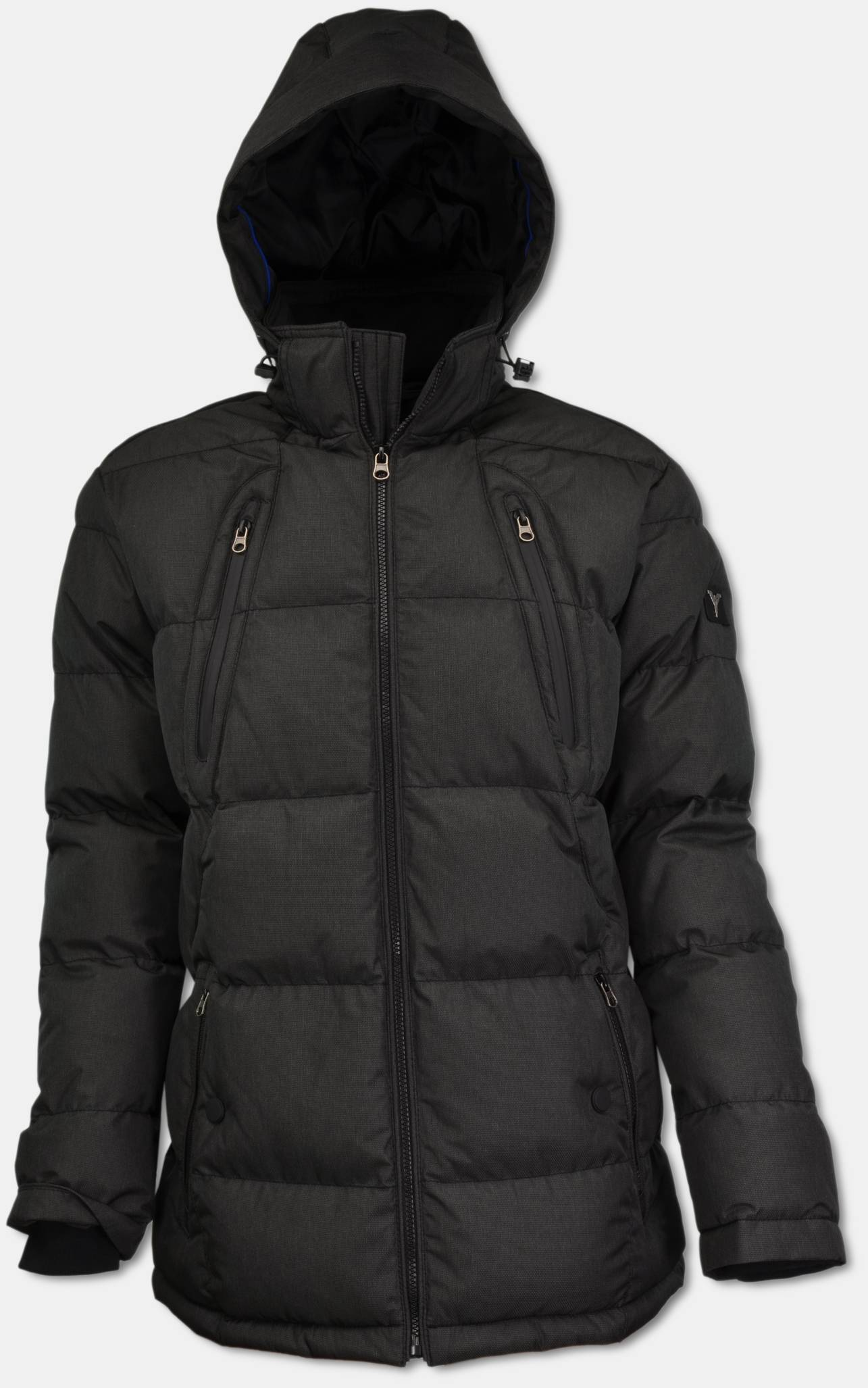 CARLO COLUCCI Online Shop   Warm lining winter jacket with hood, black 48   purchase online